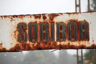 Sobibor Rail Sign October 2012