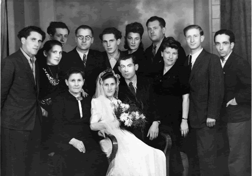 The Wedding of David and Manya Jagoda, Munchberg, Germany 1946